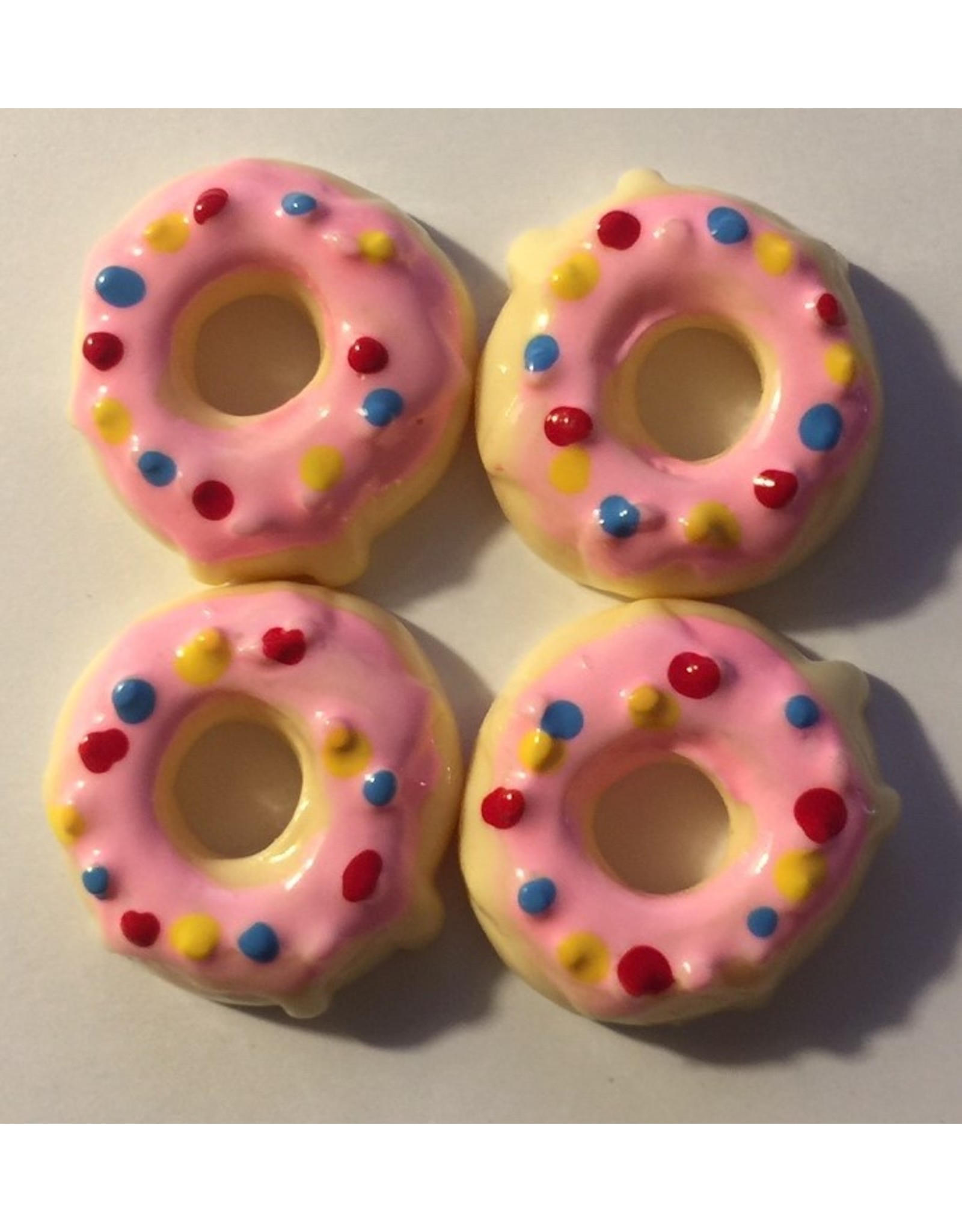 Paws-Itively Pawsome Designs Faux Iced Cake Donuts (set of 4)