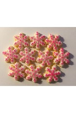 Paws-Itively Pawsome Designs Faux Pink & White Iced Snowflake Cookies (10)