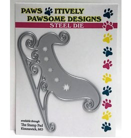 Paws-Itively Pawsome Designs Santa's Sleigh (facing right) - Die