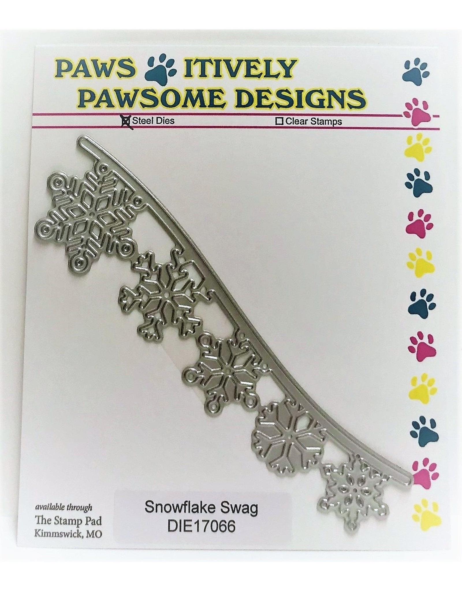 Paws-Itively Pawsome Designs Snowflake Swag - Die