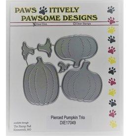 Paws-Itively Pawsome Designs Pierced Pumpkin Trio
