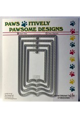 Paws-Itively Pawsome Designs Bracket Stitched Tag Set