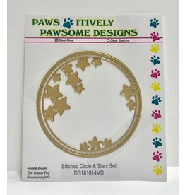 Paws-Itively Pawsome Designs Stitched Circle & Stars Set (Gold)