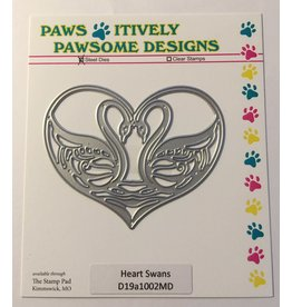 Paws-Itively Pawsome Designs Heart Swans - Die