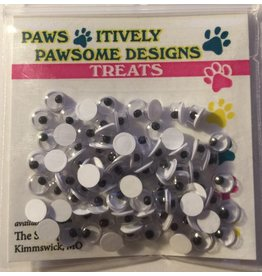 Paws-Itively Pawsome Designs Wiggle Eyes - 4mm (Qty approx 70)