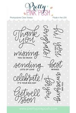 Pretty Pink Posh Everyday Greetings - Clear Stamps