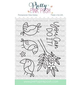 Pretty Pink Posh Tropical Toucans - Clear Stamp Set