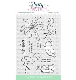 Pretty Pink Posh Tropical Birds - Clear Stamp Set