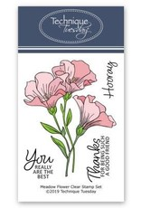 Technique Tuesday Meadow Flowers (Greenhouse Society) - Clear Stamp Set