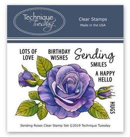 Technique Tuesday Sending Roses (Greenhouse Society) - Clear Stamp Set