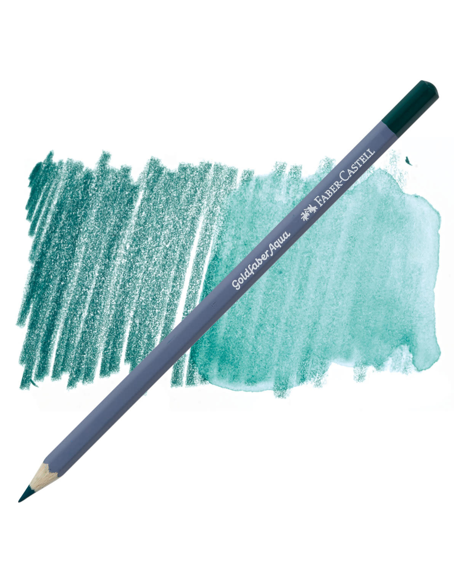 Faber-Castell Goldfaber Aqua Watercolor Pencil - Deep Cobalt Green #158