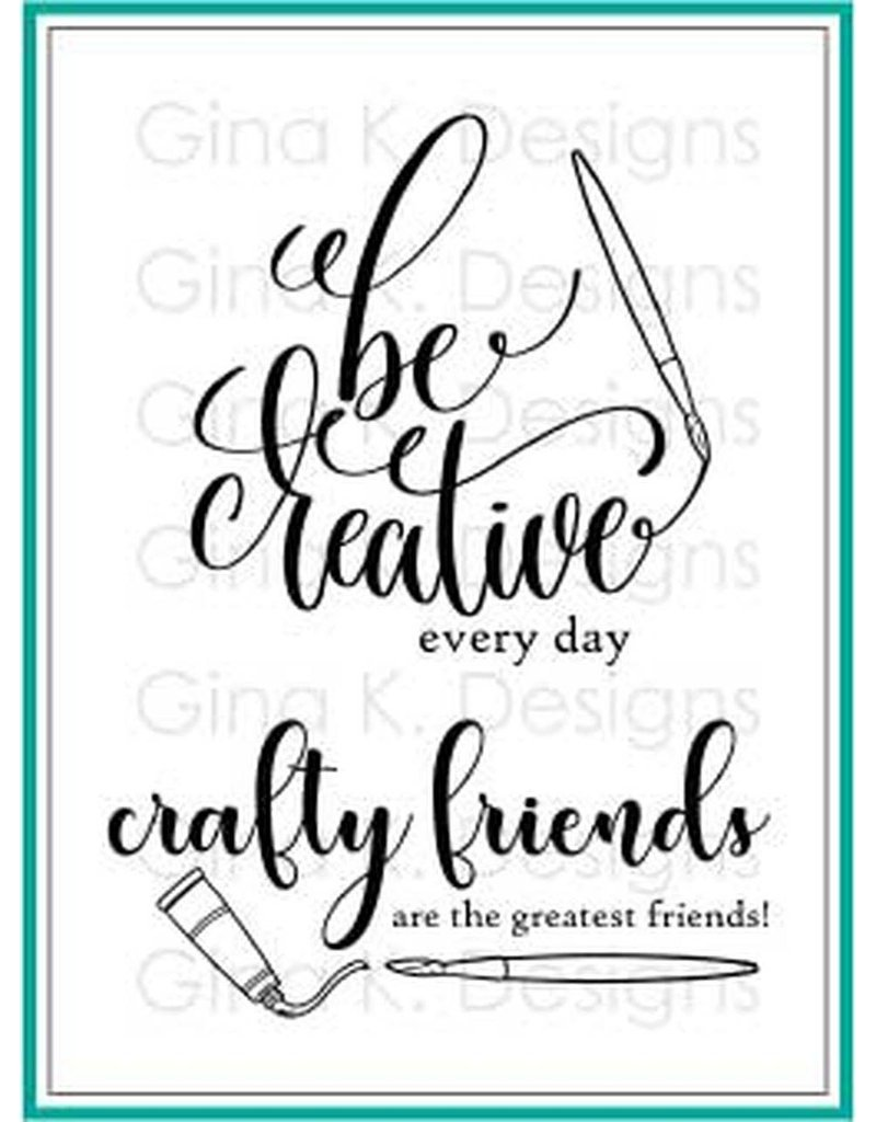 Gina K Designs LLC Crafty & Creative Clear Stamps