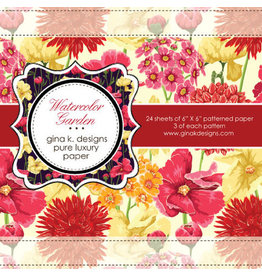 Gina K Designs LLC Pure Luxury Paper 6x6 - Watercolor Garden
