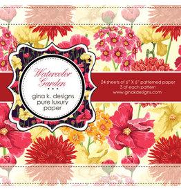 Gina K Designs LLC Pure Luxury Paper 6x6 - Watercolor Garden