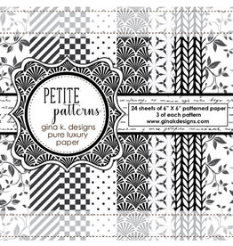 Gina K Designs LLC Petite Patterns - 6x6 Paper Pack