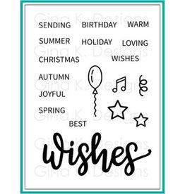 Gina K Designs LLC Wishes Clear Stamp Set