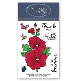 Technique Tuesday Hello Hollyhocks (Greenhouse Society) - Clear Stamp Set