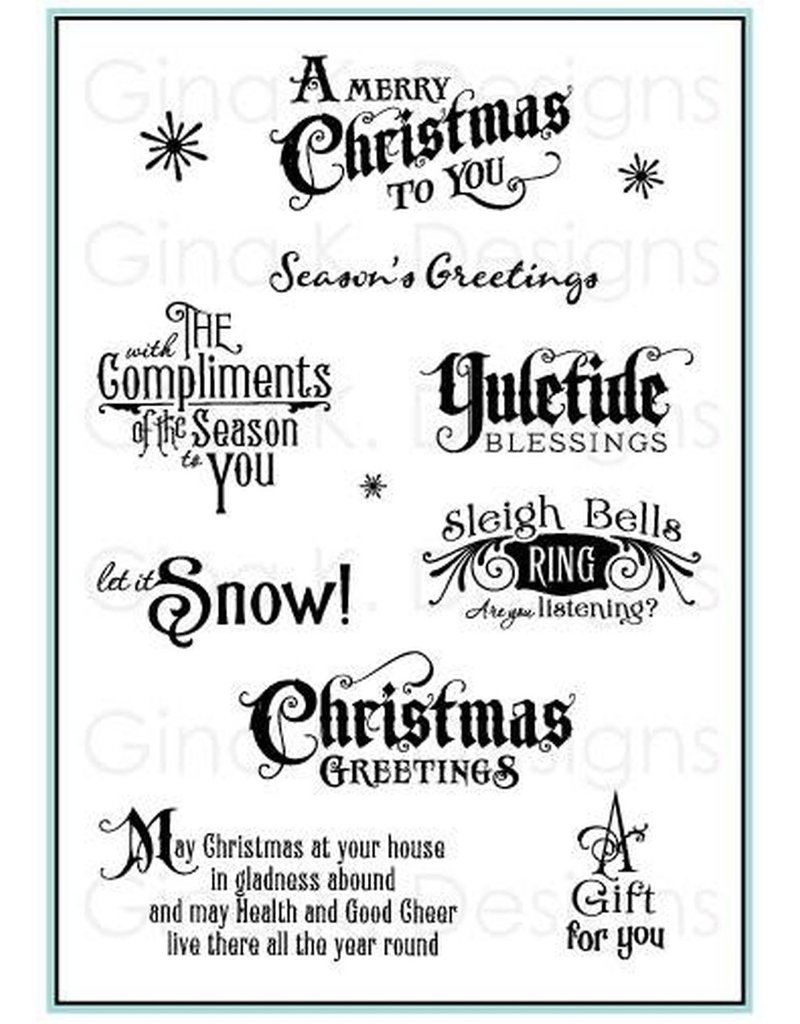 Gina K Designs LLC Complements of the Season Clear Stamps
