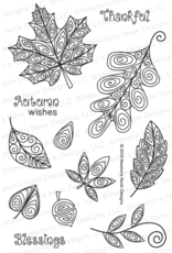 Newton's Nook Beautiful Leaves - Clear Stamps