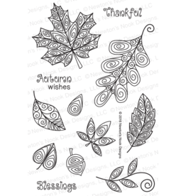 Newton's Nook Beautiful Leaves- Clear Stamps