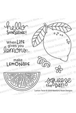 Newton's Nook Lemon Twist Clear Stamp Set