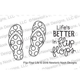 Newton's Nook Flip Flop Life - Clear Stamp Set