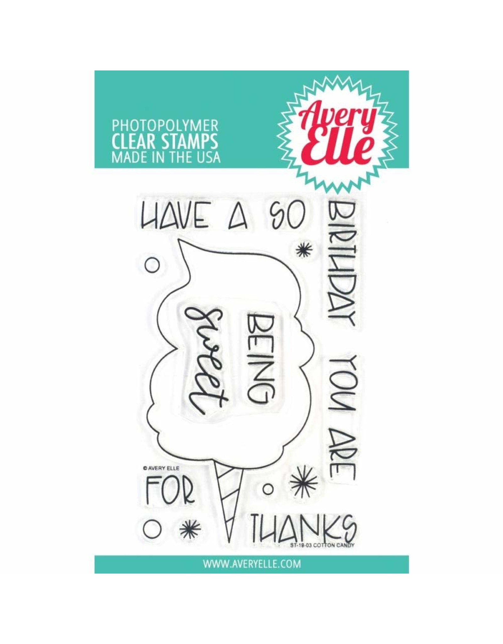 Avery Elle Cotton Candy - Clear Stamp Set (RETIRED) (25%)