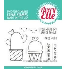 Avery Elle Stuck on You Clear Stamp Set