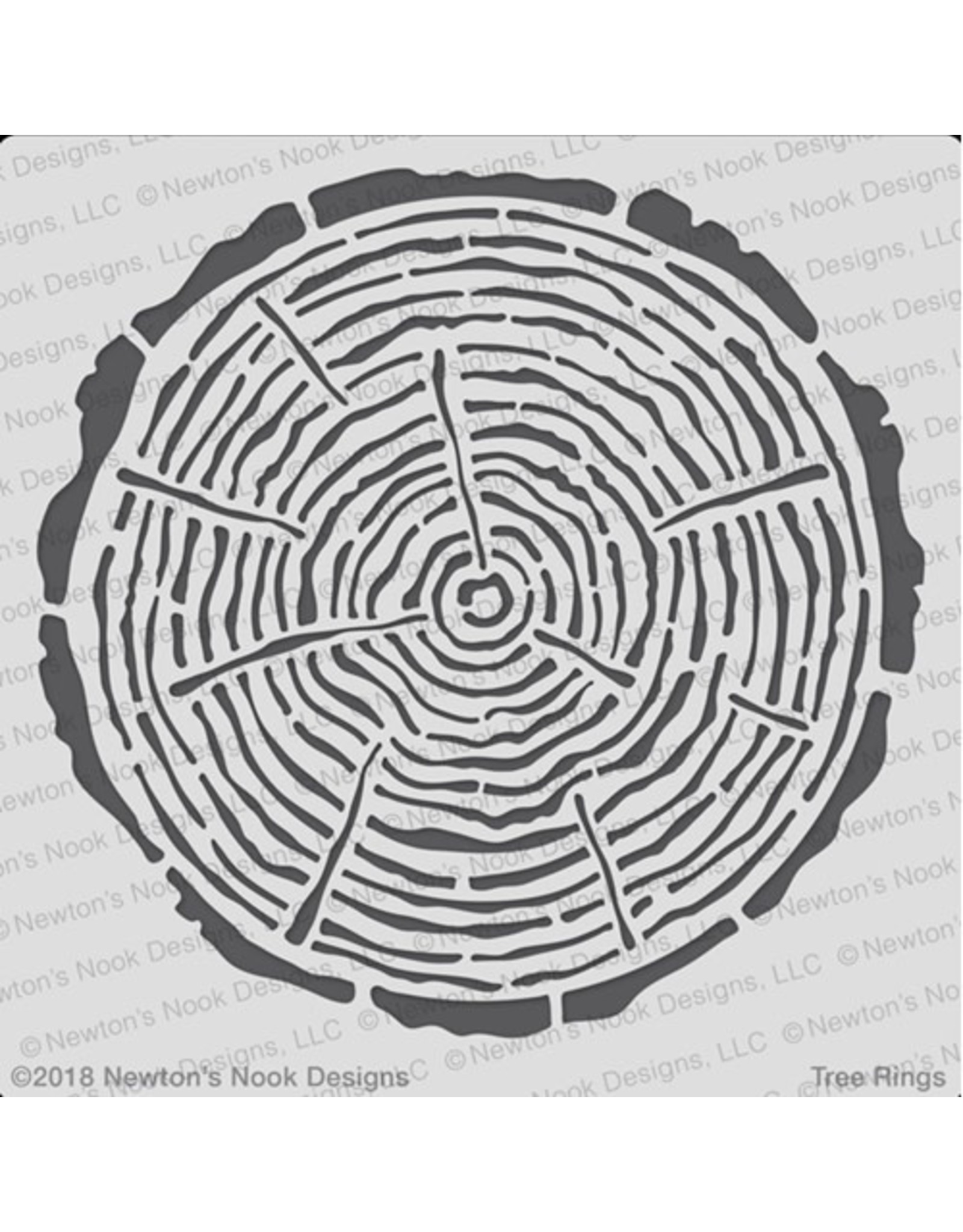 Newton's Nook Tree Rings - 6x6 Stencil