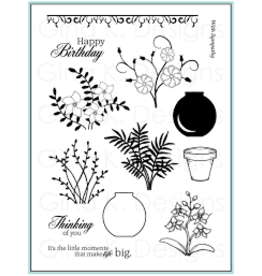 Gina K Designs LLC Vogue Vases (Theresa Momber) Clear Stamps