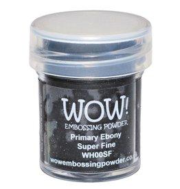 WOW! Embossing Powder - Primary Ebony (Super Fine)