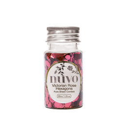 Nuvo Nuvo Pure Sheen Confetti - Victorian Rose Hexagons