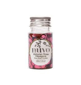 Nuvo Nuvo Pure Sheen Confetti - Victorian Rose Hexagons
