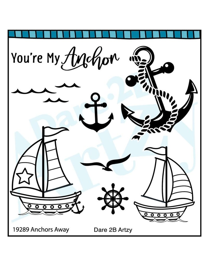 Dare 2B Artzy Anchors Clear Stamp Set