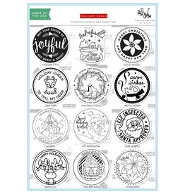 The Stamping Village Holiday Seals Clear Stamp Set