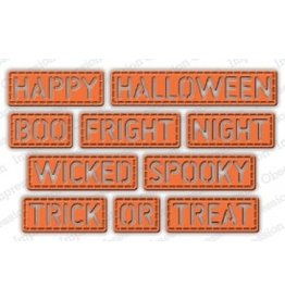 Impression Obsession Halloween Stitched Words - Die