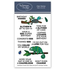 Technique Tuesday Chameleon Friends - Clear Stamp Set