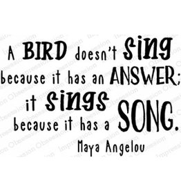 Impression Obsession Bird Sings - Cling