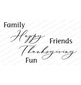 Impression Obsession Family Friends Fun - Cling Stamp