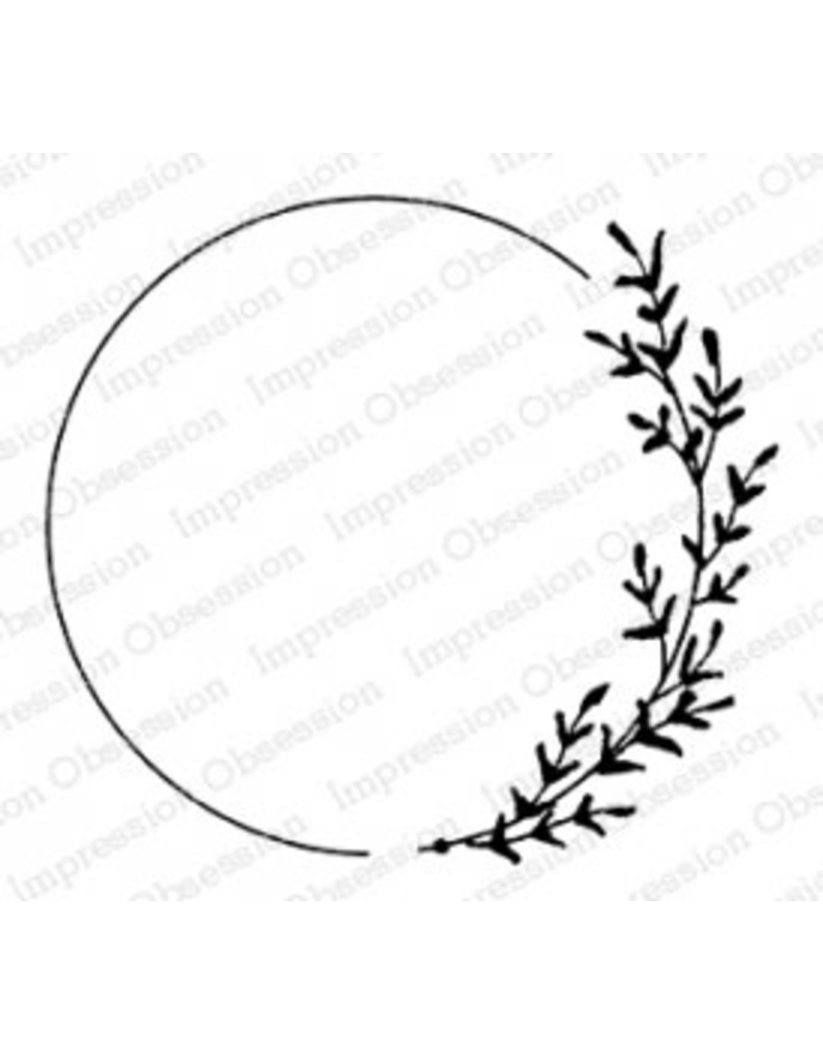 Impression Obsession Sweet Leaf Circle - Cling Stamp