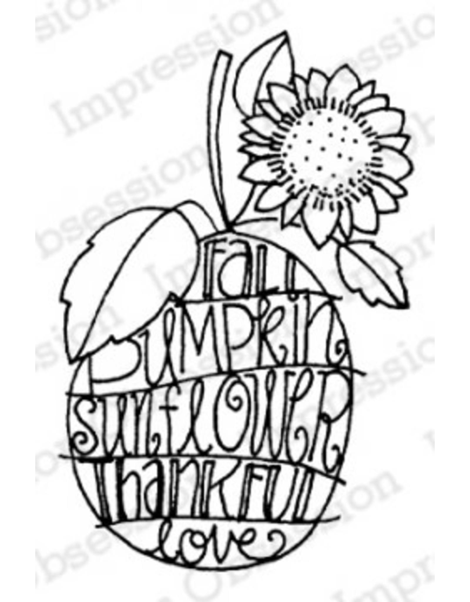 Impression Obsession Sunny Pumpkin - Cling Stamp