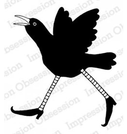 Impression Obsession Crazy Crow 2 - Cling Stamp