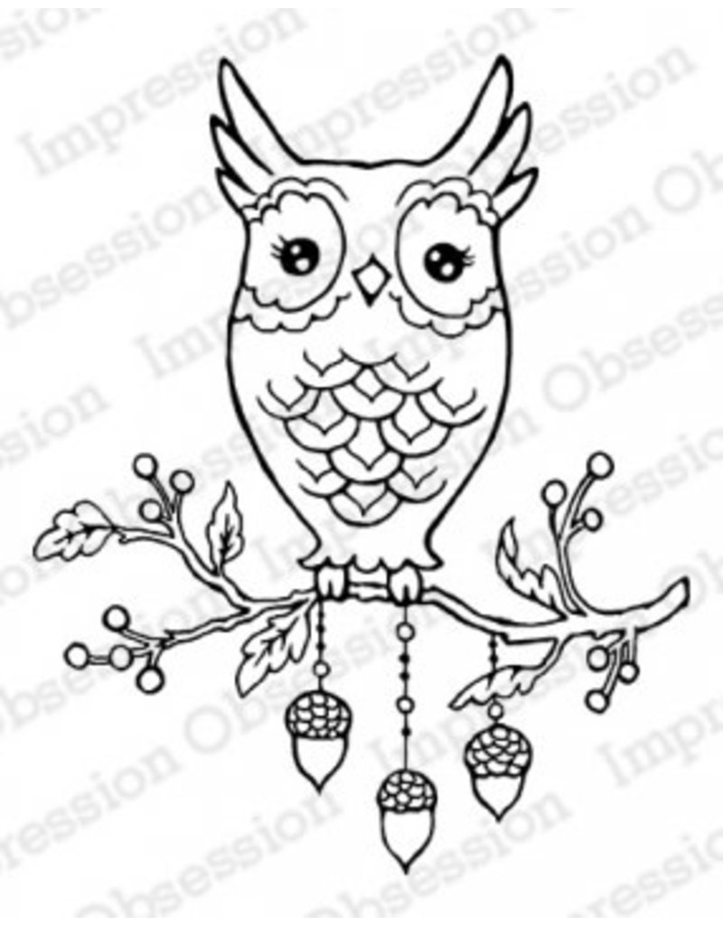 Impression Obsession Autumn Owl - Cling