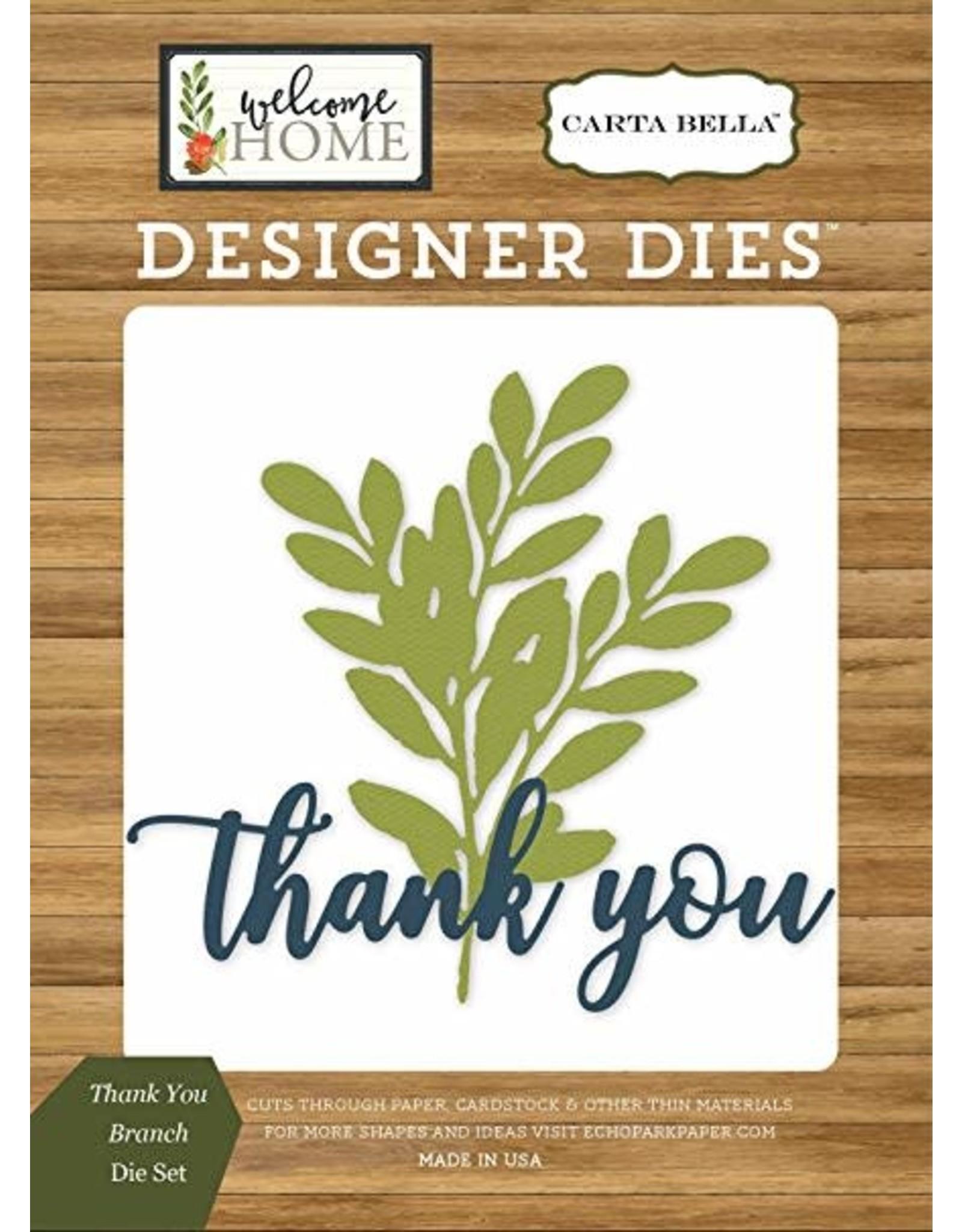 Carta Bella Paper Company, LLC Thank You Branch - Die (40%)