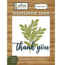 Carta Bella Paper Company, LLC Designer Dies - Thank You Branch Die Set