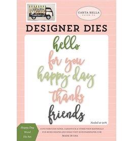 Carta Bella Paper Company, LLC Designer Dies - Happy Day Word Die Set