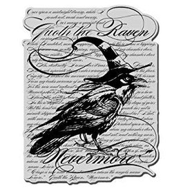 Stampendous Raven Background Cling