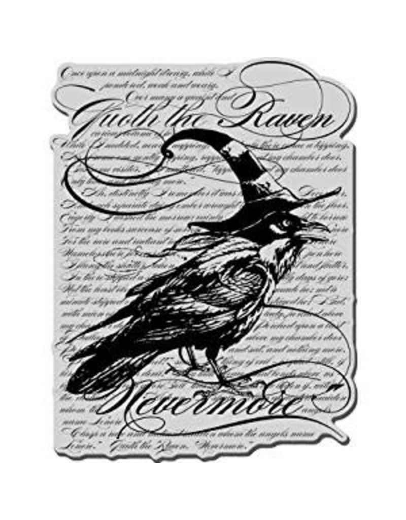Stampendous Cling Raven Background