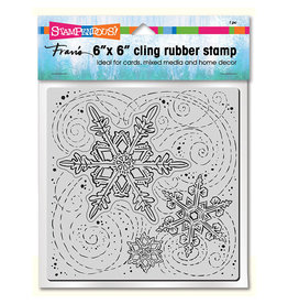 Stampendous Cling Winter Blizzard (6x6 Background)