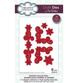 Creative Expressions Snowflake Flourish & Corner - Festive Collection Die